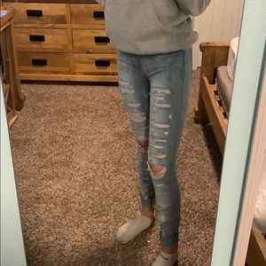 super skinny ripped jeans from kohl's